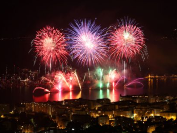Firework Display in the bay of Cannes