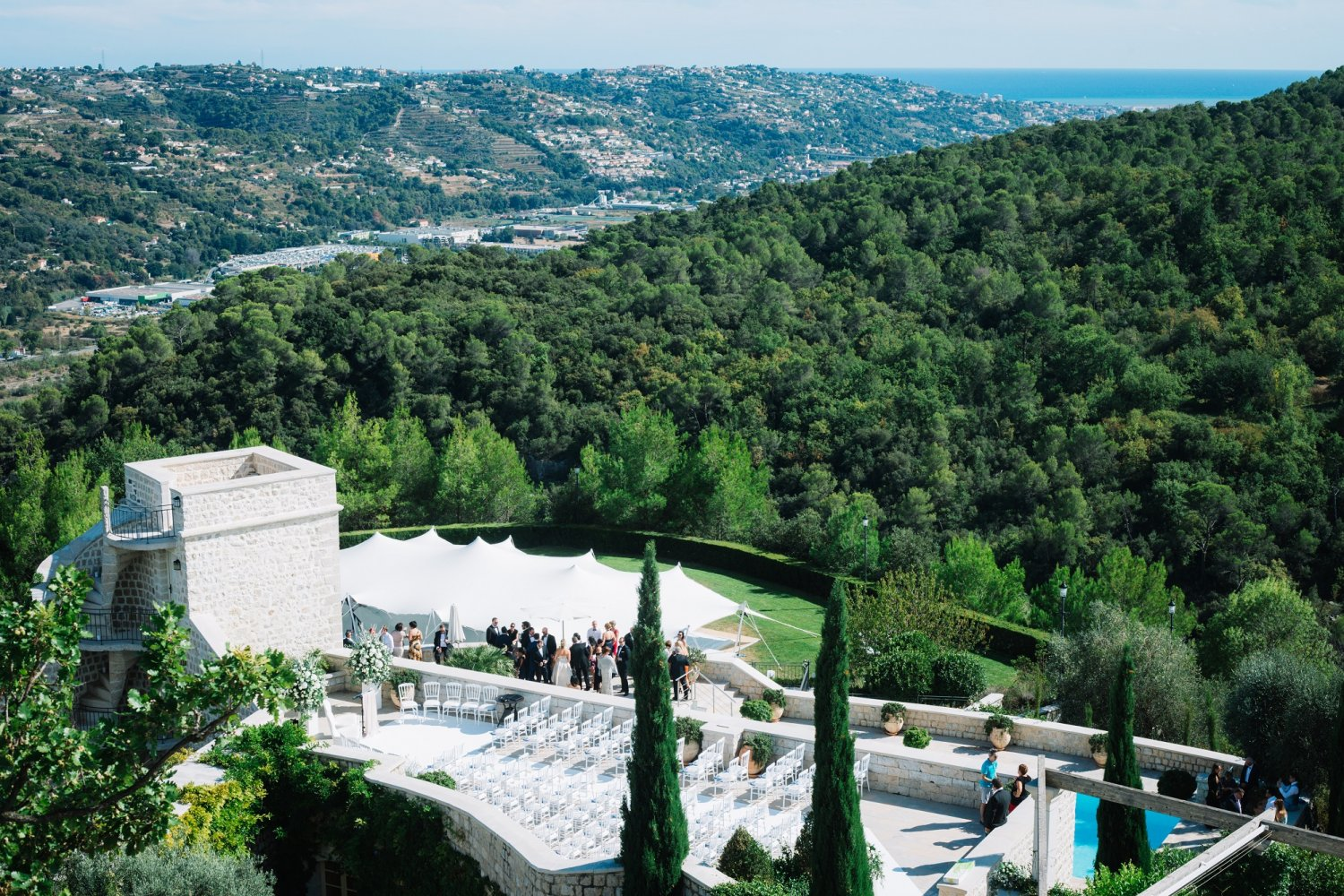 Secluded chateau in the hills of Nice